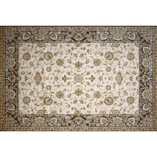 Astoria Grand Montejano Hand Look Persian Wool Ivory/Brown/Red Area Rug
