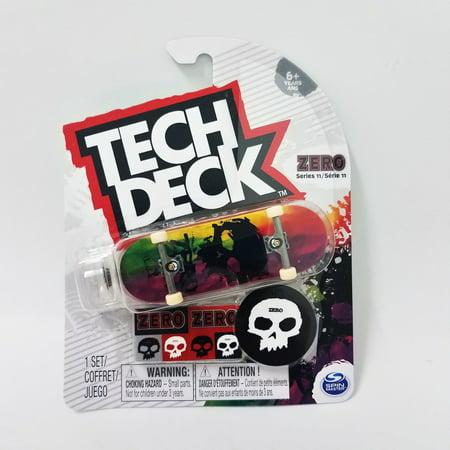 Tech Deck Zero Skateboards Series 11 Skull Design Fingerboard with sticker