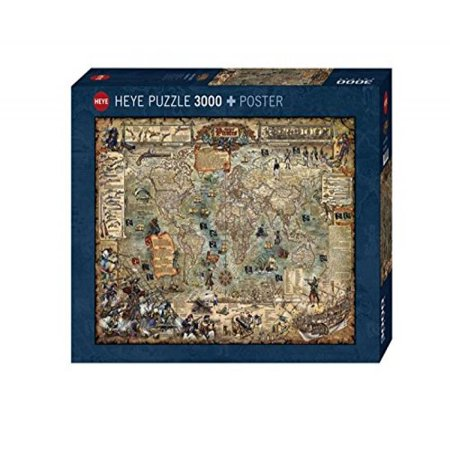 Heye pirate world 3000 piece map jigsaw puzzle walmart heye pirate world 3000 piece map jigsaw puzzle gumiabroncs Choice Image