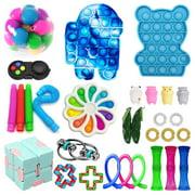 Cheap Fidget Toy Packs Sensory Fidget Toys Set Simples Dimples Pop Bubble Stress Relief Balls Fidget Toys Set for ADHD