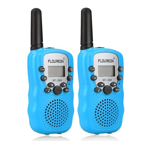 2pcs floureon 22 channel walkie talkies uhf462 467mhz 2. Black Bedroom Furniture Sets. Home Design Ideas