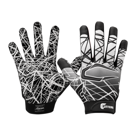 Cutters S150 Game Day, Adult L, BLACK ()