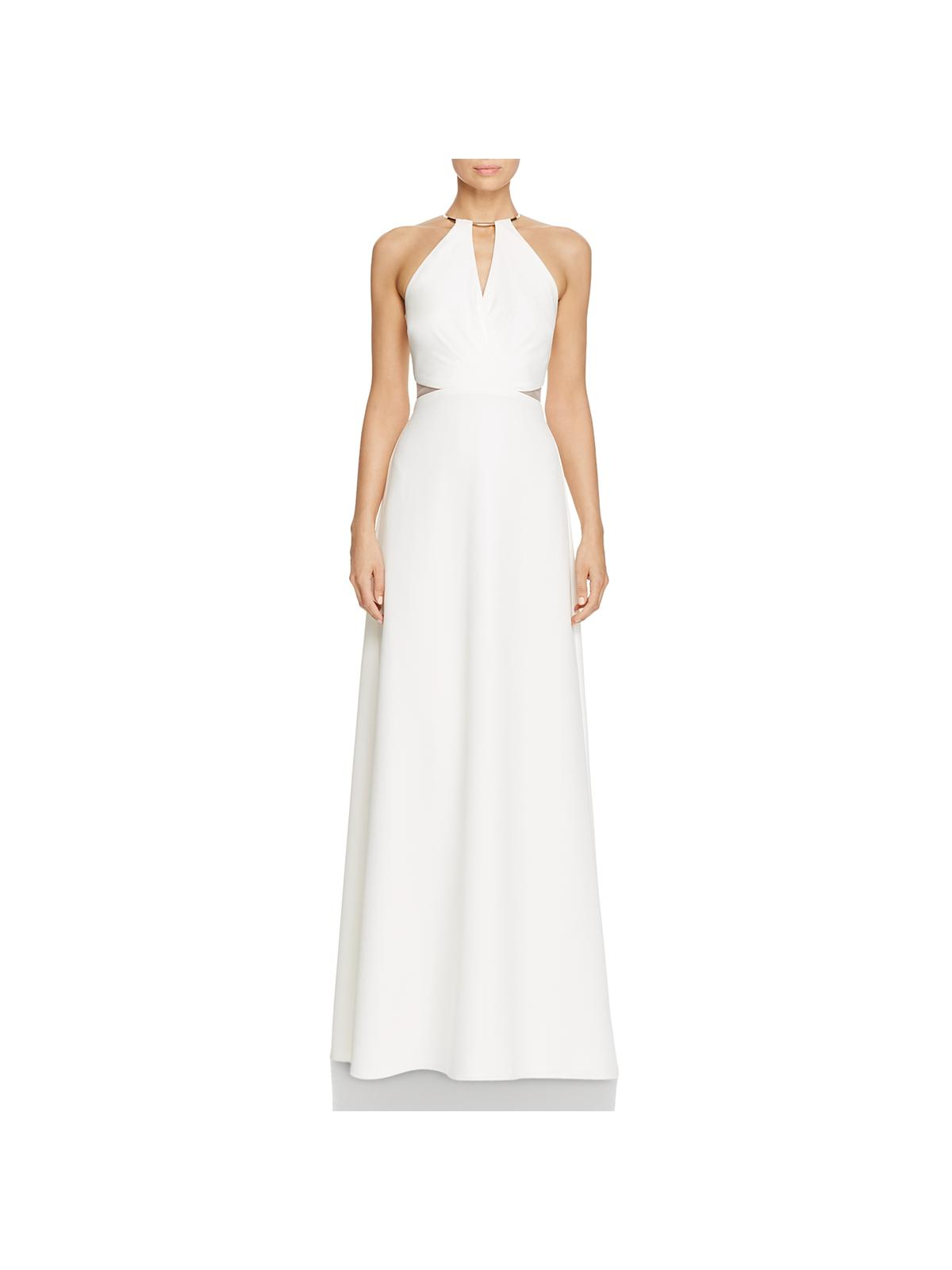 JS Collections Womens O-Ring Pleated Evening Dress