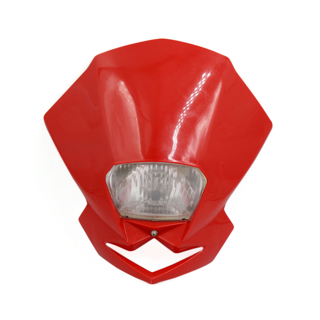 Universal Red Case Motorcycle Street Fighter Headlight Fairing Light Lamp Yellow