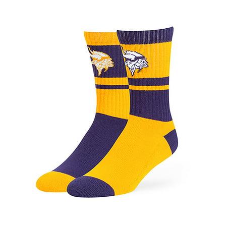 NFL Minnesota Vikings Wentworth Crew Crew Socks by Fan Favorite