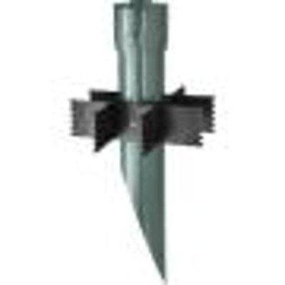 "RAB Lighting MPM19VG Mighty Post with Metal Cap, 3"" Diameter x 19"" Height, Verde Green"