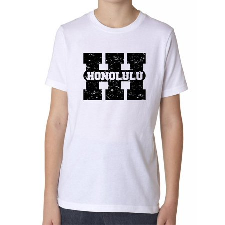 Honolulu, Hawaii HI Classic City State Sign Boy's Cotton Youth T-Shirt for $<!---->