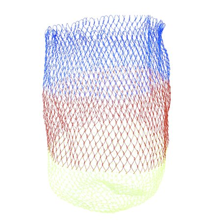 Unique Bargains 11 8  X 15  Portable Fishing Landing Net Fish Angler Mesh For Fishermen String Red Blue Yellow Green
