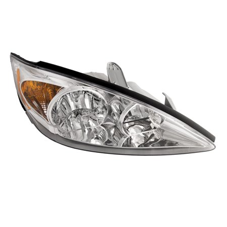 Toyota Camry Right Headlight - 2002-2004 Toyota Camry LE/XLE New Chrome Passenger Side Headlight Right Headlamp Assembly TO2503137