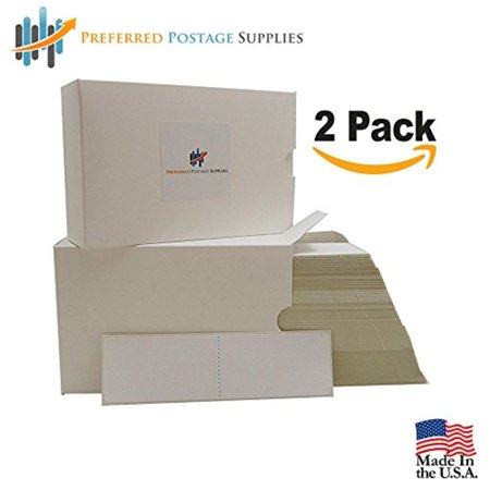 Preferred Postage Supplies (Money Saver 2-Pack) 2000 Labels 6 x 1.75 Compare to Pitney Bowes 625-0 Two labels per strip (NOT FOR USE IN dm300C/400C/450C/ AND 475C) 500 Postage Meter Sheets