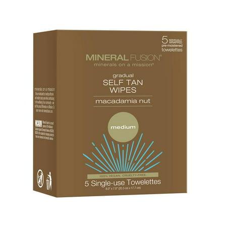 Bronze Fusion Jack - Mineral Fusion Gradual Self Tan Wipes Macadamia Nut Medium 5 Towels
