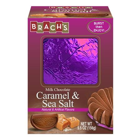 (2 Pack) Brach's Milk Chocolate Sea Salt Caramel Ball, 5.5 Ounce