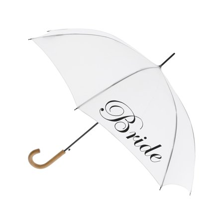 Size  one size Women's Script Bride Wedding Stick Umbrella with Hook Handle for $<!---->