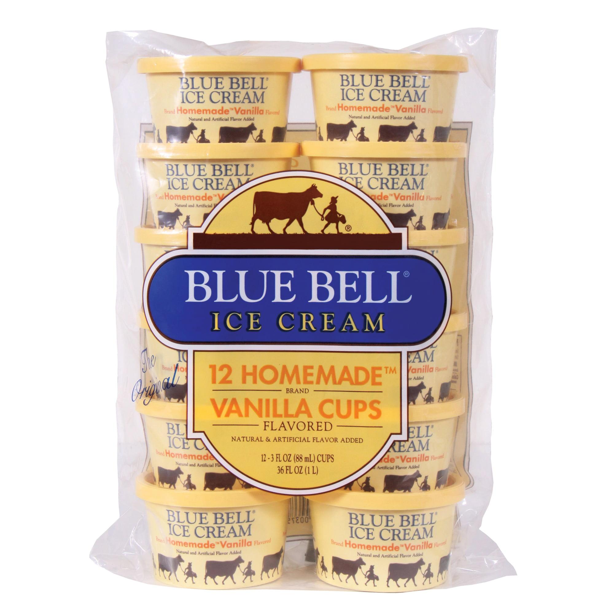 Blue Bell Homemade Vanilla Ice Cream Cups, 12ct