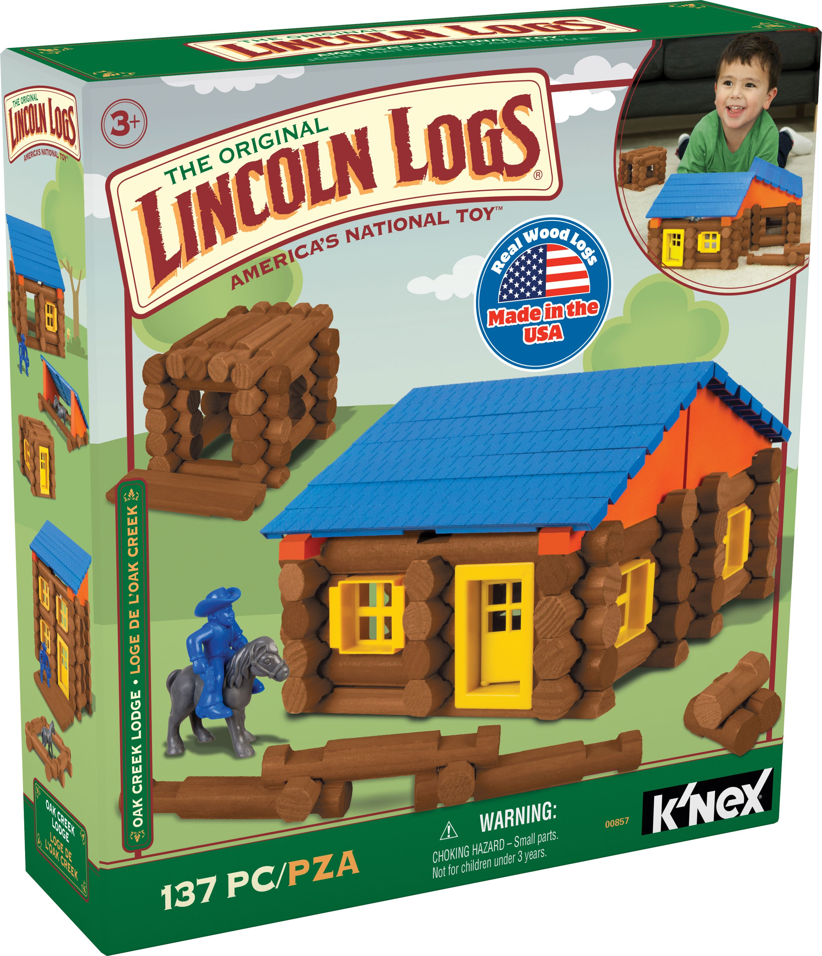 LINCOLN LOGS Oak Creek Lodge 137 Pieces Ages 3 Preschool Education Toy by LINCOLN LOGS