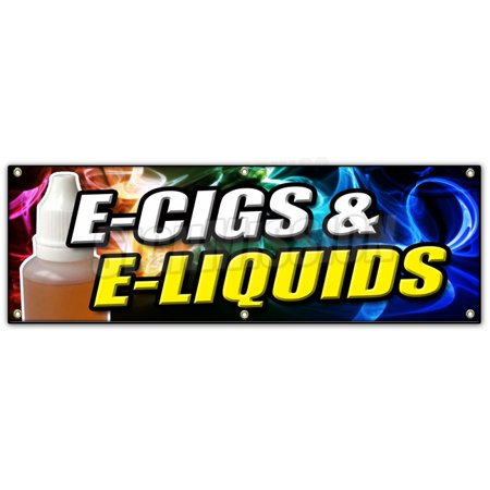 72  E Cigs   E Liquids Banner Sign Smoking Head Shop Cigarette Vape Vaporize