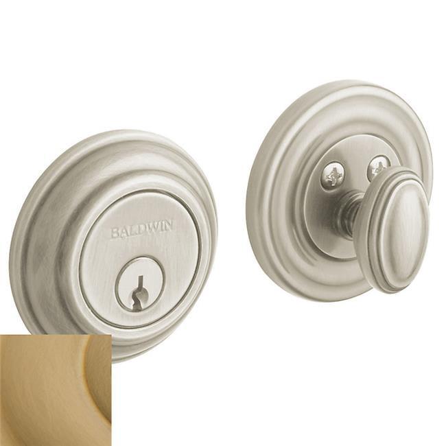 Baldwin 8231033B Evolved Traditional Single Cylinder Deadbolt With Bluetooth Technology, Vintage Brass