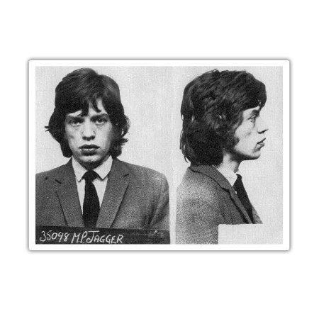 Mick Jagger Mug Shot - Vinyl Sticker Waterproof Decal Sticker