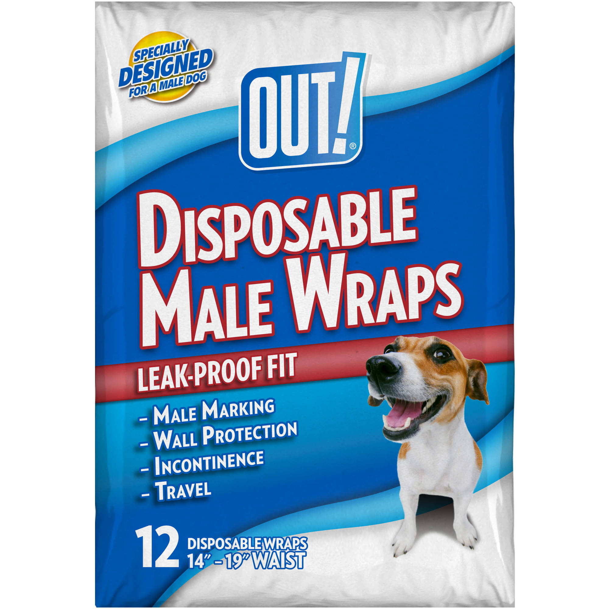 OUT! Disposable Male Wraps, 12ct