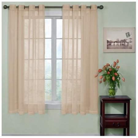 Curtain Fresh Odor-Neutralizing Sheer Voile Grommet Curtain Panel