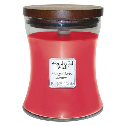 Wonderful Wick 15-oz Spice Jar Candle, Mango Cherry Blossom