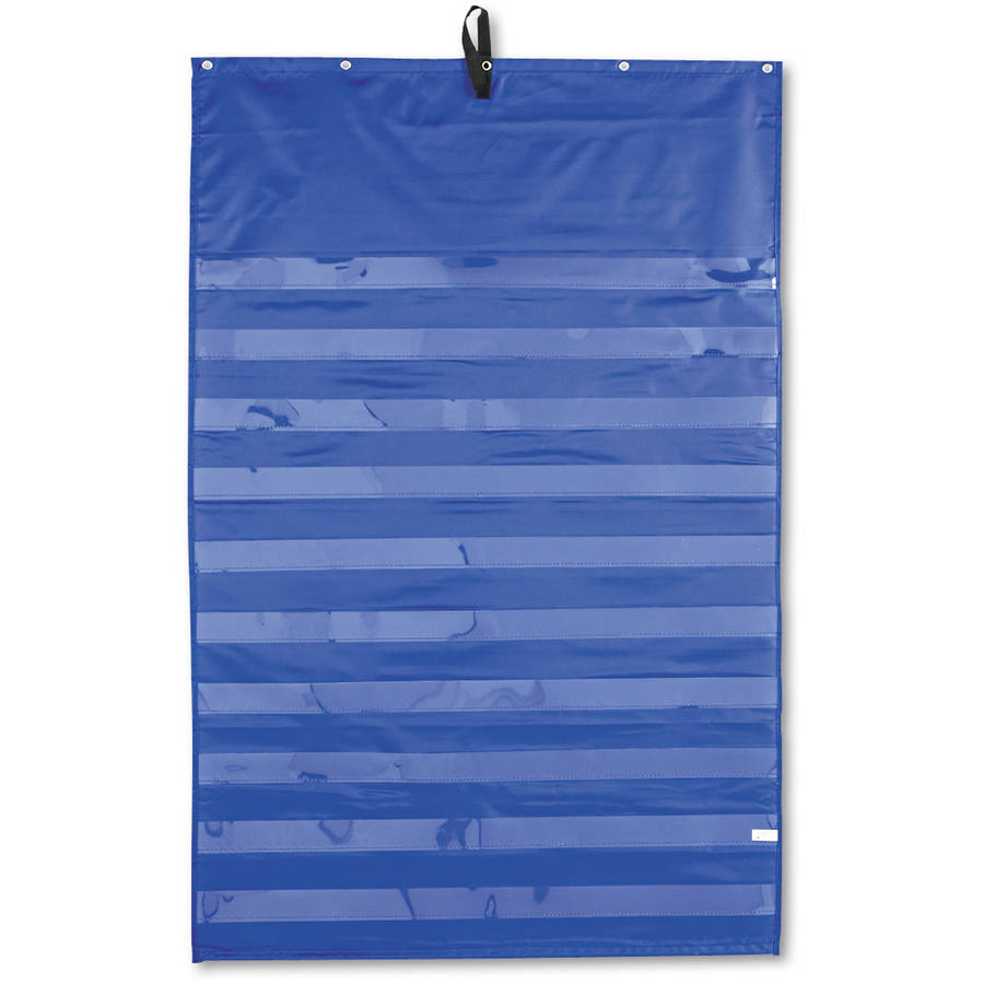 "Carson-Dellosa Publishing Original Pocket Chart with 10 Clear Pockets, 33.75"" x 51.5"", Blue"