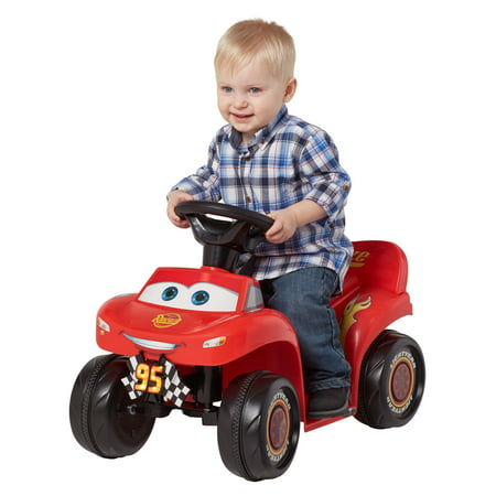 Disney Pixar's Cars 3: McQueen, 6-Volt Ride-On Toy by Kid Trax, ages 18 - 30 (Barbie Lil Quad)