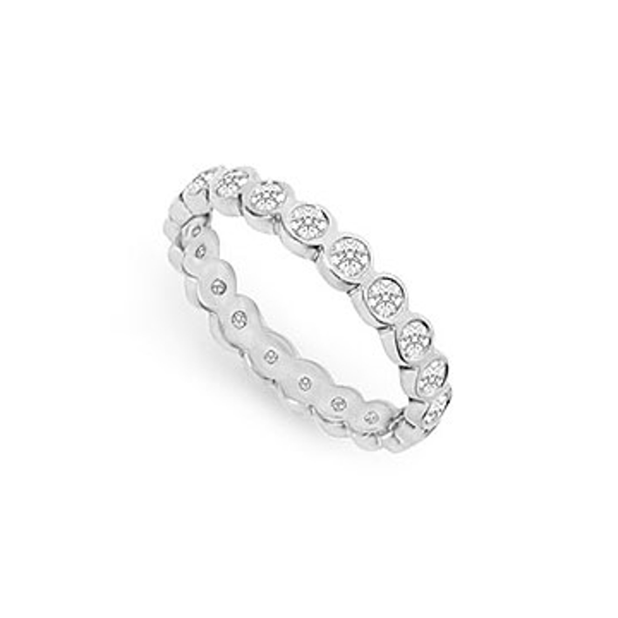 One Carat Diamond Eternity Ring In 14k White Gold First Wedding