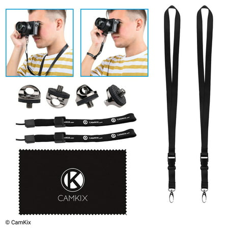 Set of 4 Camera Quick Install Tripod Mount Screws, 2 Lanyards and 2 Wrist Straps - For a Fast and Secure Connection to Your Camera - Adjustable Wrist Straps -