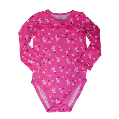 Jumping Beans Infant Girls Pink Heart Deer Long Sleeve