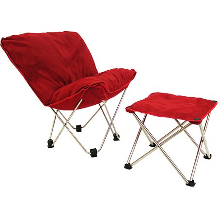Pleasing Padded Butterfly Chair And Ottoman Red Microfiber Walmart Com Ocoug Best Dining Table And Chair Ideas Images Ocougorg