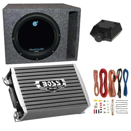 - Planet Audio 1800W Subwoofer + Boss 1500W Amplifier w Amp Kit +Q-Power Enclosure