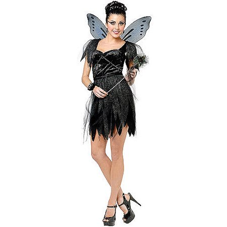 Halloween Costumes Fairy Makeup (Midnight Fairy Adult Halloween)