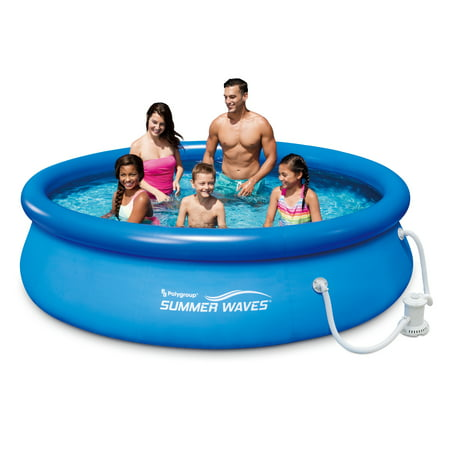 Summer Waves 10x30u0022 Quick Set Inflatable Above Ground Pool, Blue
