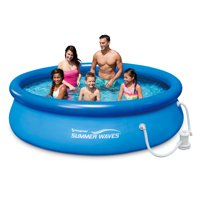 Summer Waves 6-15 ft Quick Set Pool w/ 600gph filter pump, GFCI & Type D filter cartridge
