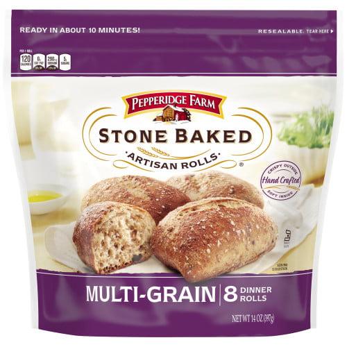 Pepperidge Farm Stone Baked Artisan Rolls Frozen Multi-Grain Rolls, 14 oz. Bag