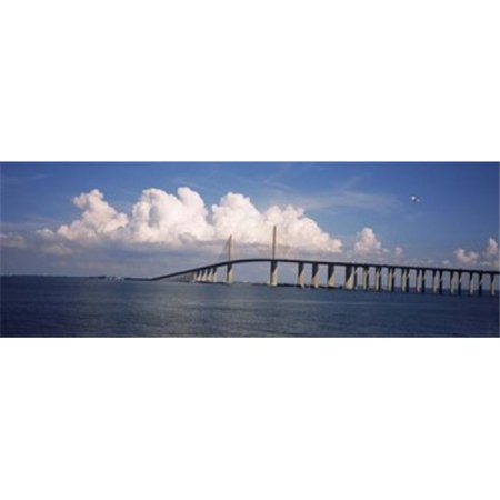 Panoramic Images Ppi115551l Suspension Bridge Across The Bay  Sunshine Skyway Bridge  Tampa Bay  Gulf Of Mexico  Florida  Usa Poster Print By Panoramic Images   36 X 12
