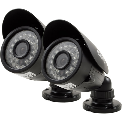 Revo 700 TVL Indoor/Outdoor Bullet Surveillance Camera with 100' Night Vision, 2pk