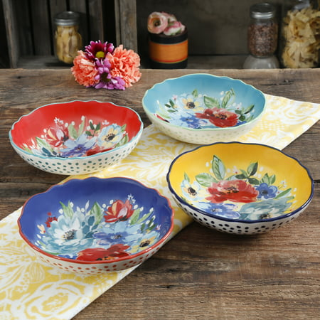 The Pioneer Woman Melody 7.5-Inch Pasta Bowls, Set of (Sophie Conran Pasta Bowl)