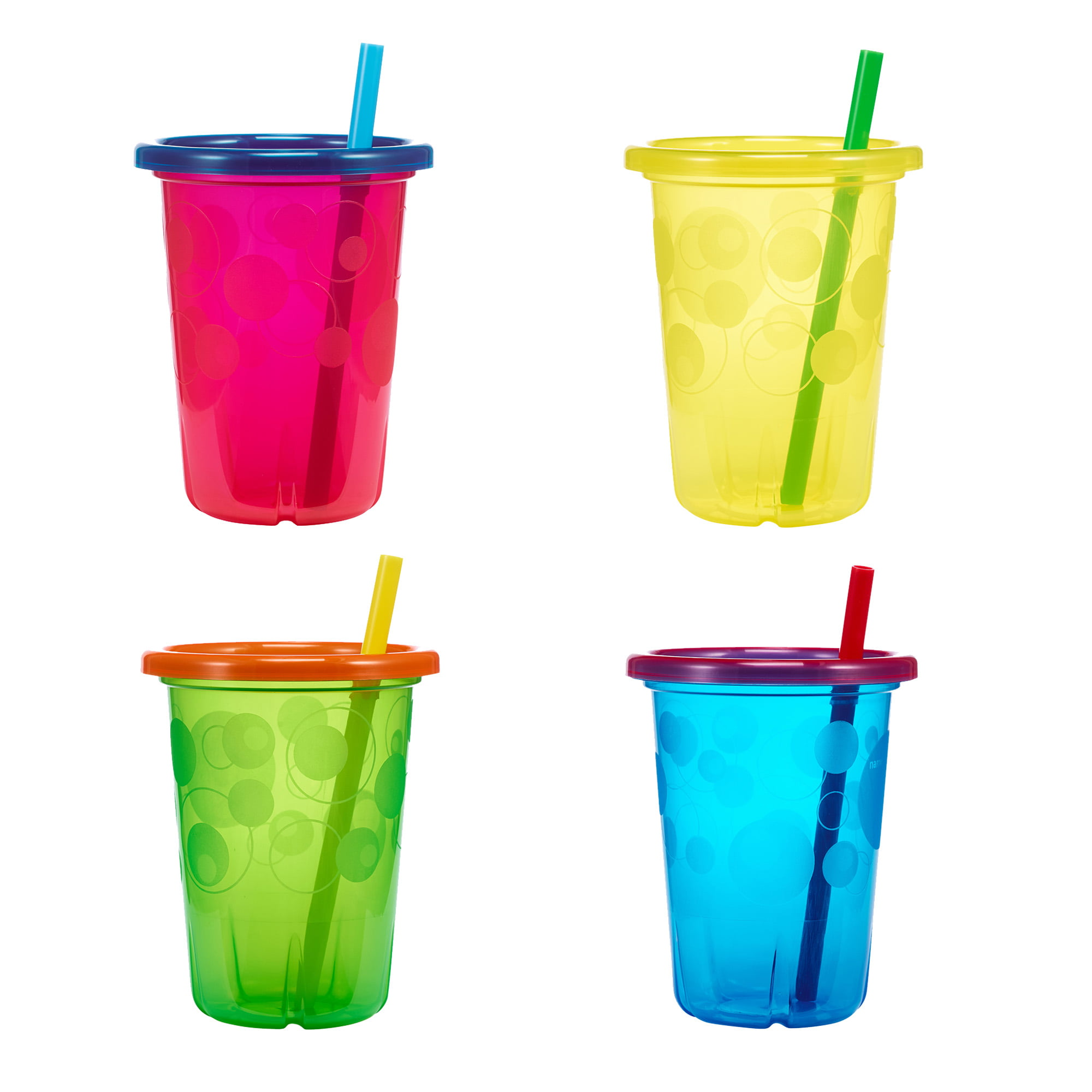Baby Kids Child Spill Proof Lid Straw Insulated Cup Drink Straw Leakproof Top FI