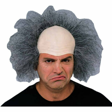 Bald Old Man Headpiece Adult Halloween Accessory - Bald Old Man