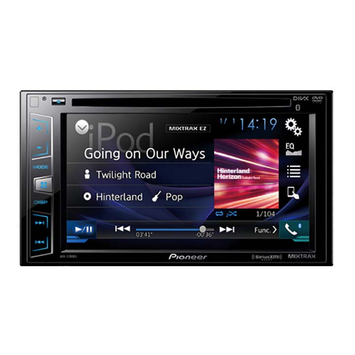 "Pioneer AVH-X390BS 6.2"" Double-DIN In-Dash DVD Receiver with Bluetooth and SiriusXM Ready"