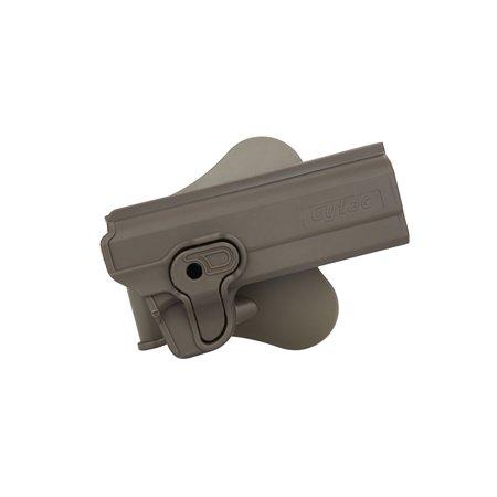 Tactical Scorpion 1911 Variant Modular Level II Polymer Paddle Holster Dark