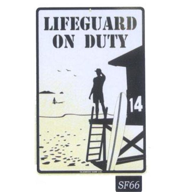 Seaweed Surf Co SF66 12X18 Aluminum Sign Lifeguard On Duty (Red)