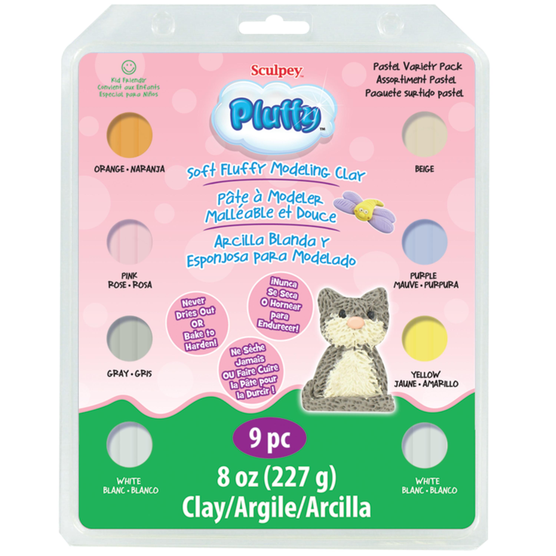 Sculpey Pluffy Variety Pack, Pastel
