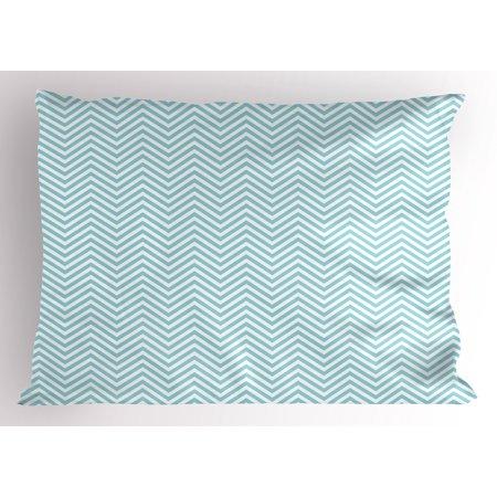 - Retro Pillow Sham Big White Dots Spots Little Circles Shabby Pastel Colors Symmetrical Monochrome, Decorative Standard Size Printed Pillowcase, 26 X 20 Inches, Pale Blue White, by Ambesonne