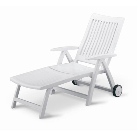 Kettler usa roma multi position chaise lounge for Adams 5 position chaise lounge white