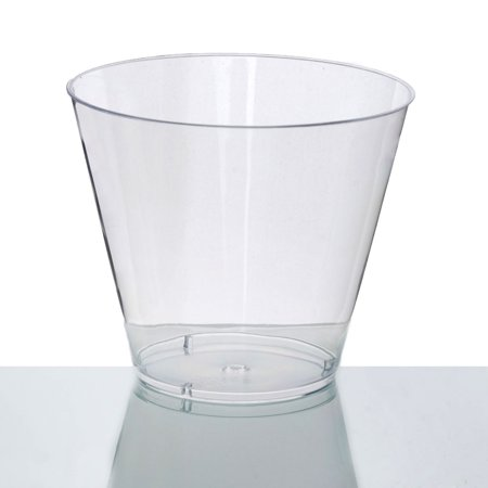 BalsaCircle Clear 25 pcs 9 oz Disposable Plastic Tumbler Cups - Wedding Reception Party Buffet Catering Tableware - Disposable Margarita Cups