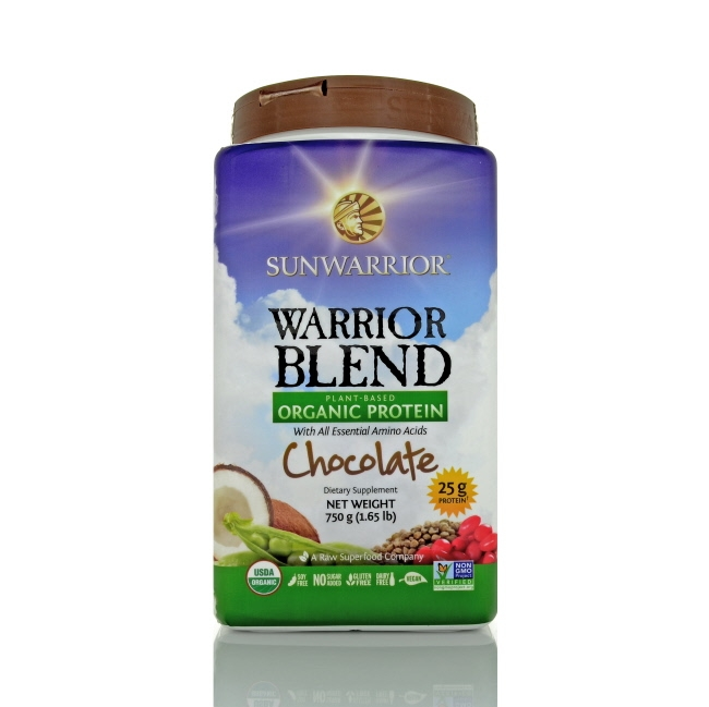 Sunwarrior Warrior Blend Protein Powder - Chocolate, 1.65 lbs