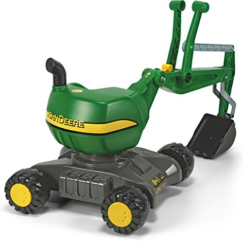 rolly toys John Deere Ride-On: 360-Degree Excavator Shovel Digger, Youth Ages 3+ by